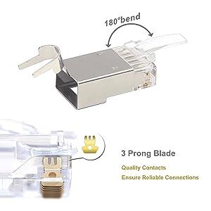 Shielded Cat7 RJ45 Modular Plug