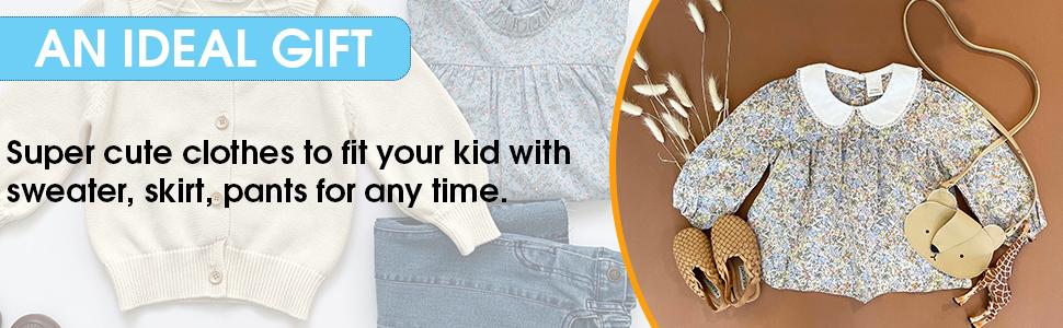 Toddler Peter Pan Collar Shirt-Toddler Girl Clothes Fall-Ruffle Shirt…