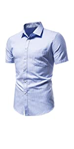 Short sleeve dress shirts for men