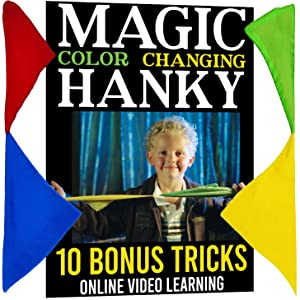 Green and Yellow Hanky, Color Changing Hanky, Magic Tricks, Magic Makers