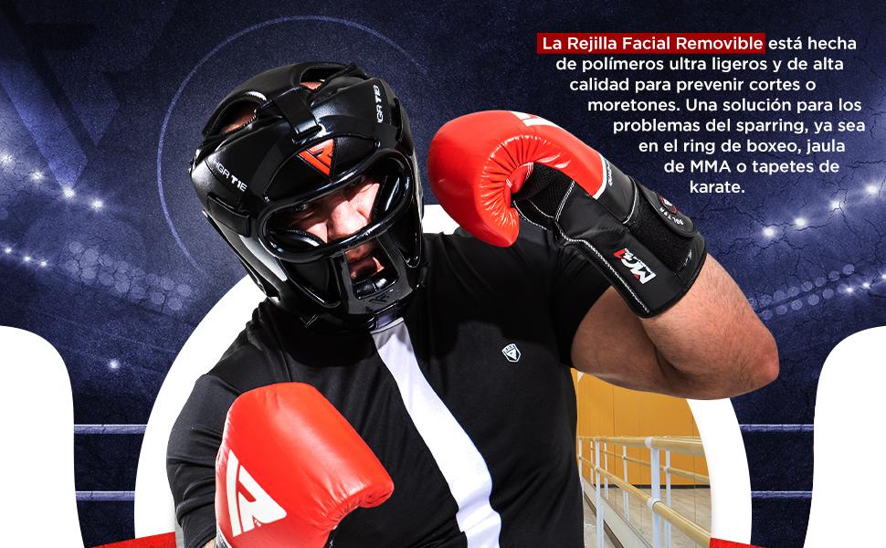 RDX Boxeo Cascos MMA Kick Boxing Sparring Casco Protector Entrenamiento Lucha: Amazon.es: Deportes y aire libre