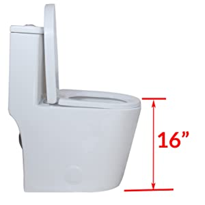 Standard seat height toilet doesn't suite for taller adult.