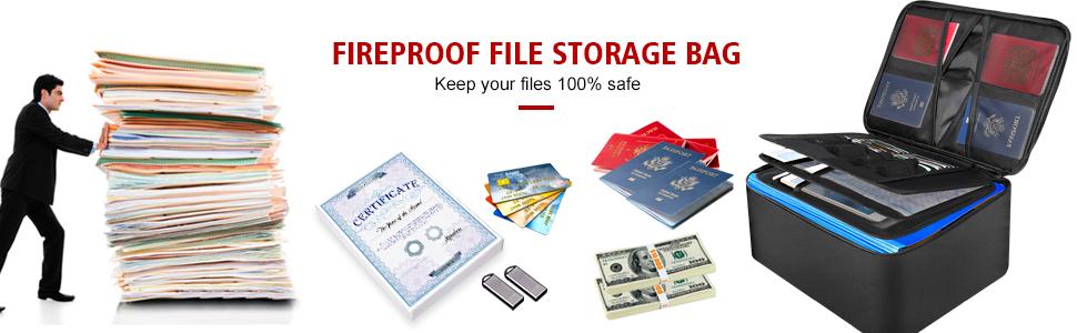 large fireproof document bag