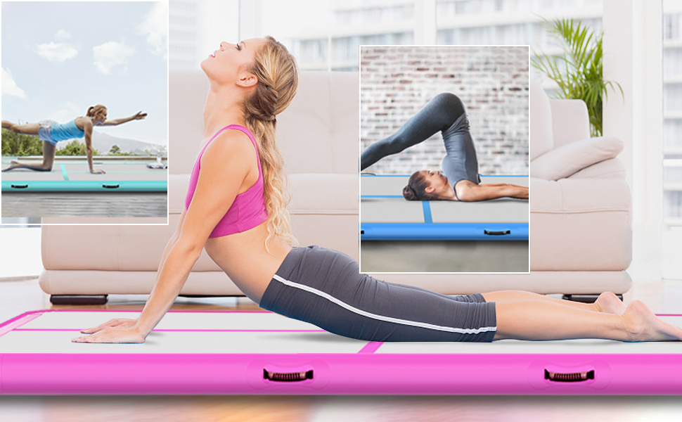 Home Gym Yoga Taekwondo Tapis dentra/înement pour la Plage Eau Flottant Camping Pique-Nique Exercice LGWQ Gonflable Air Piste de Tumbling Gymnastic Mat
