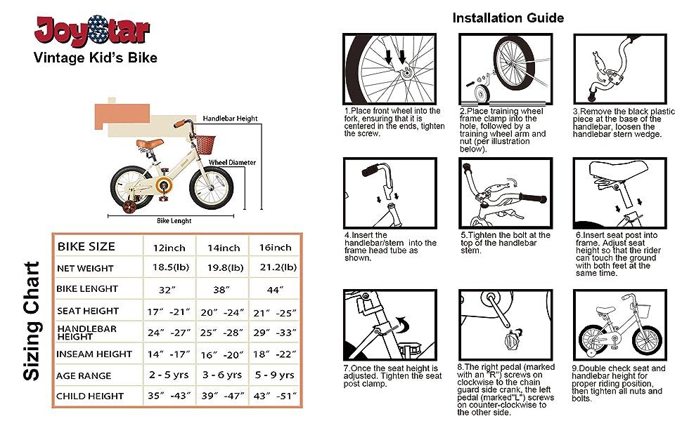 bike sizing chart
