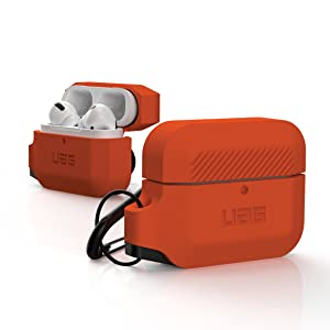 URBAN ARMOR GEAR UAG AIRPODS PRO SILICONE CASE ORANGE RUGGED TOUGH STRONG MILITARY DROP TESTED