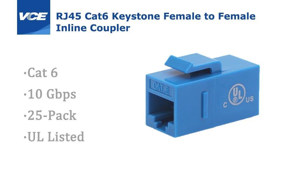 RJ45 CAT6 Keystone Coupler