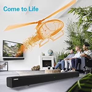 sound bars Room-filling sound: powerful speakers deliver a round, high-end audio experience