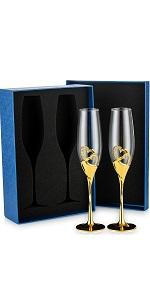 champagne glasses gift box
