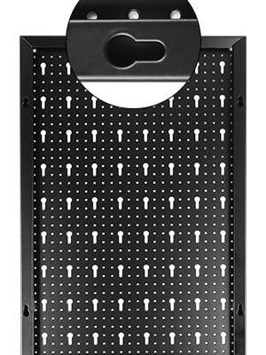 FIXKIT gereedschapsgatwand van metaal met 17 delige haakset 120 x 60 x2 cm gereedschapswand gatwand