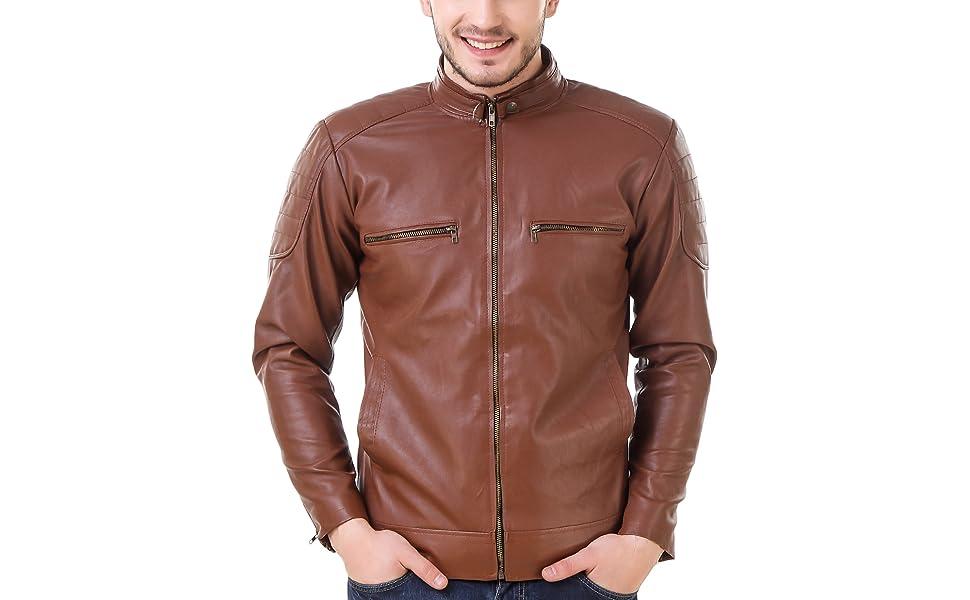 Men Fux Leather Jacket