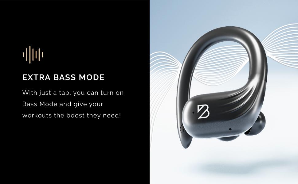long battery life wireless earbuds bass boost earphones water resistant headphones bluetooth headset