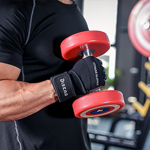 Silver Black Weightlifting gloves
