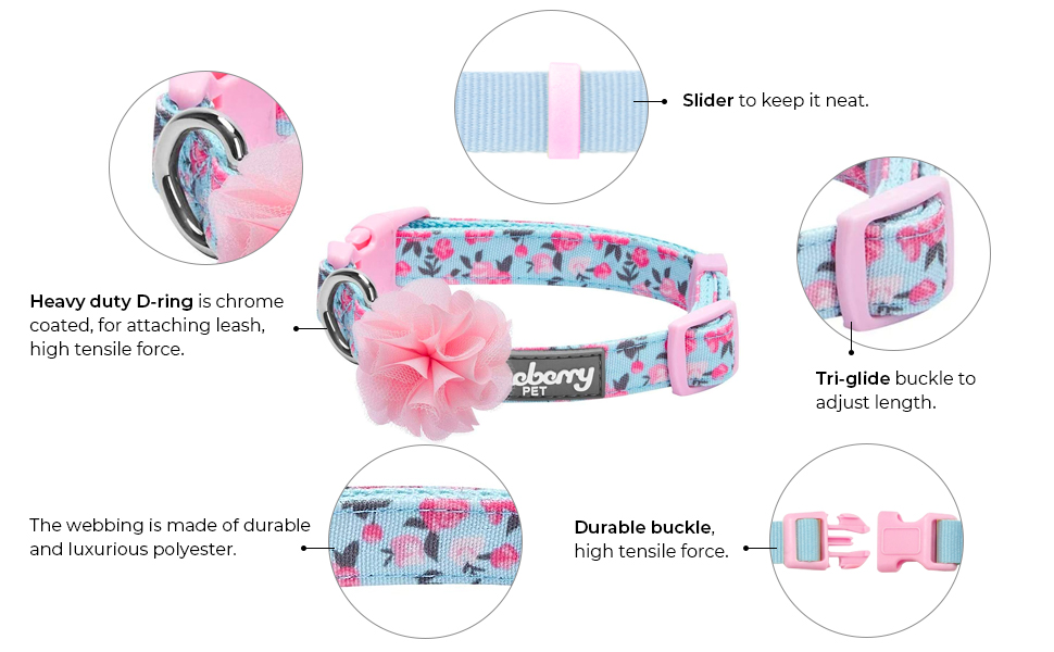 features of floral collars