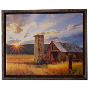 BarnwoodUSA Rustic Barnwood Canvas Frame