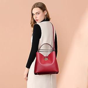 Women Snakeskin Handbag Satchel Shoulder Bag PU Leather Purse with Detachable Strap