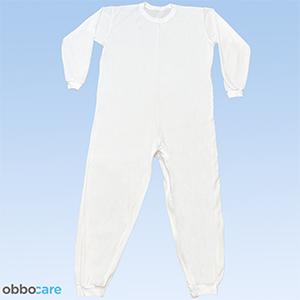 Obbocare - Pijama Antipañal De Adulto De Manga Larga. Pijama Geriátrico De 1 Cremallera Para Facilitar Cambio De Pañal. Tejido Transpirable. Talla S