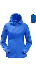 Vertvie Damen Regenjacke Wasserdicht Regenmantel Windbreaker Atmungsaktivit/ät Outdoorjacke Funktionsjacke /Übergangsjacke Freizeitjacke