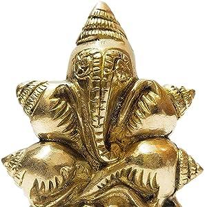 virgin brass shankha ganesha decorative idols