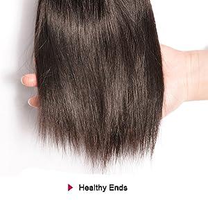 Healthy Human Hair Ends