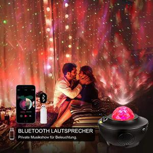 Sternenhimmel Projektor Lampe mit Fernbedienung Starry Stern Mond LED RGB Nachtlicht