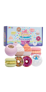 Natural Bubble Bath Bombs Gift Set
