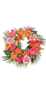 Flowers Door Wreaths Hydrangeas