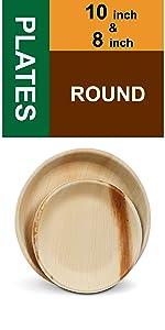 "10"" 8"" Round Plates"