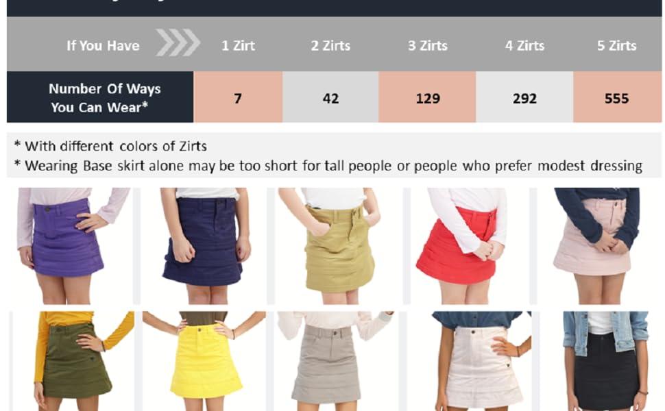 A Line Skirt Combinations BRAMVIK A-Line Skirts Zirts Customizable Reversible Pockets Tiered Mini