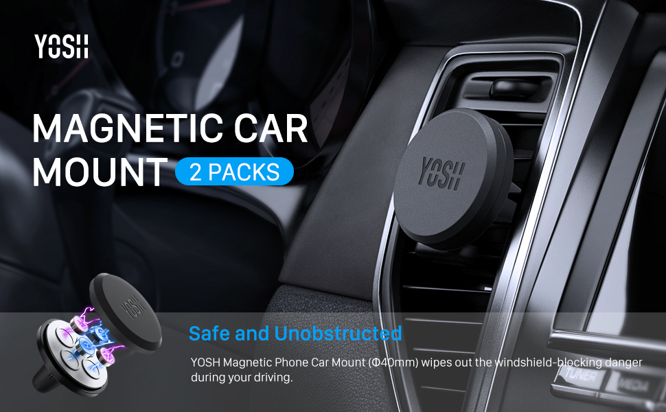 magnetic phone car mount phone mount air vent mount van grill clip cradle holder manget universal