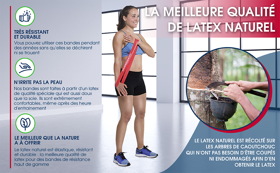 Bandes Élastiques Résistance Bandes Musculation Exercices elastique fitness, yoga, pilates, crossfit