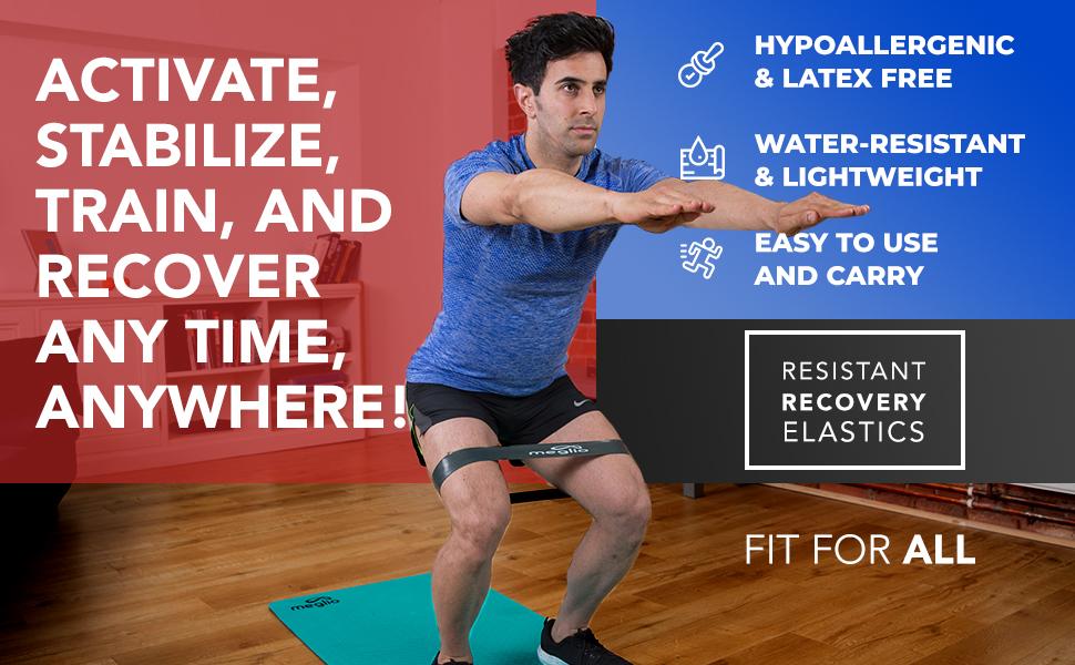 Nouveau asommet 2 M X Lourd Résistant Élastique Stretch Exercice Bandes Gain Tone Muscle