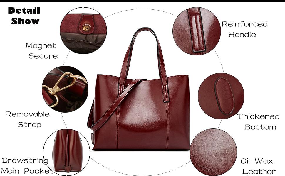 Satchel Handbag for Women, Ultra Soft Washed Vegan Leather Crossbody Bag, Shoulder Bag, Tote Purse