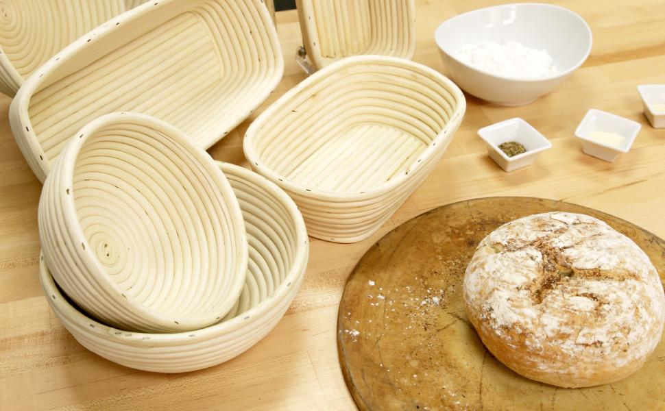 Amazon Com Frieling Usa Brotform Round Bread Rising Basket 8 Inch Kitchen Dining