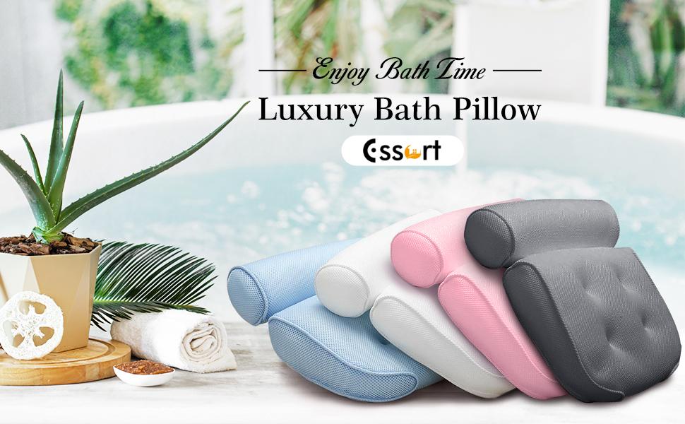 bath pillow waterproof luxury bath pillows bath headrest pillow with suctions bubble bath for women