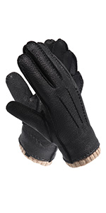 Agelec Leather Gloves Mens Thin Section Driving Breathable Car Driving Gloves Locomotive Single Sheepskin Motorcycle Mitten Color : Black Non-Touch Screen, Size : L