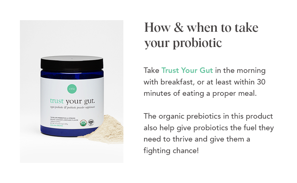 How & When to take your Probiotic