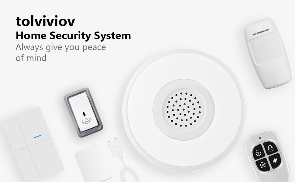 smart home security system wireless