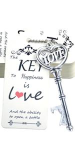 key bottle openers wedding favors key escort tags key favors bottle opener tags