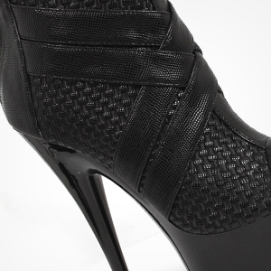 Ellie Shoes Women's Monic Peep Toe Ankle Boots - 6-Inch Pointed Stiletto Platforms
