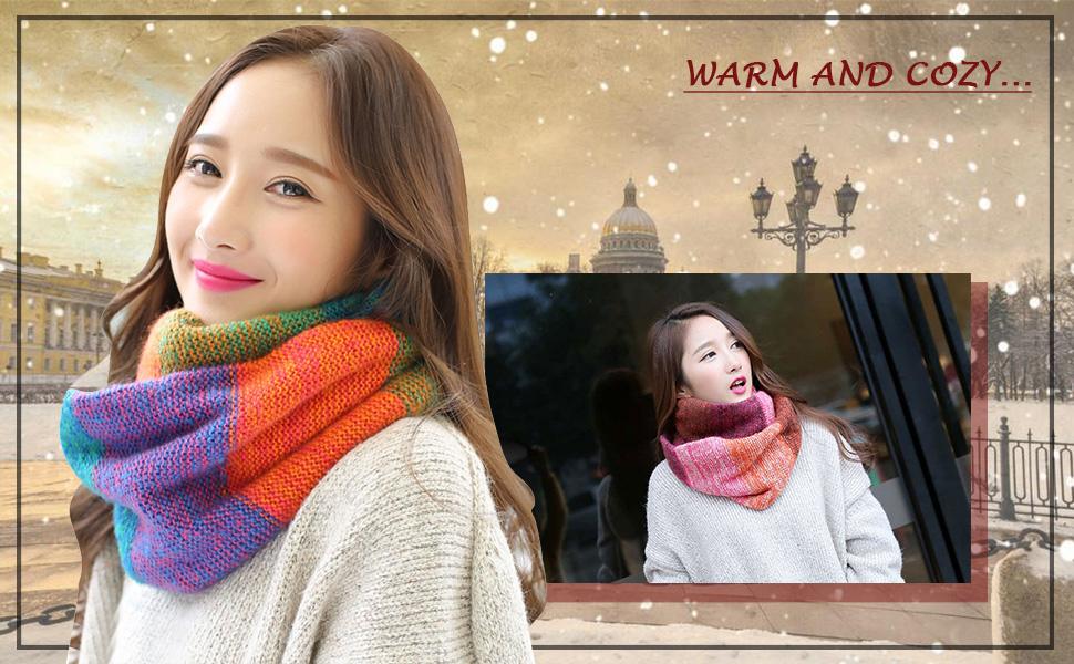 Sciarpa in maglia Inverno scamosciato spessore scaldino per sciarpa per donne e uomini sciarpa