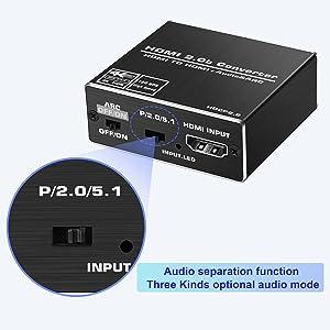 three audio edid setting