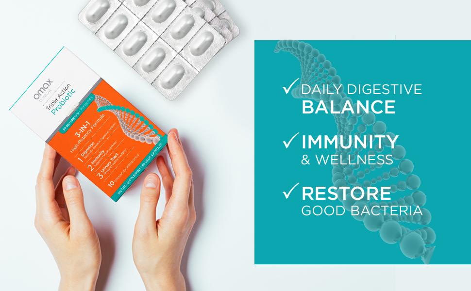 synbiotic 365 symbiotic natural probiotic prebiotic chicory root vegan therapeutic omax health