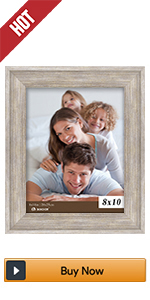 BOICHEN 8x10 beige wood rustic picture frames photo collage 4 pack wall farmhouse Silver grey gray
