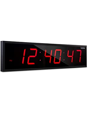 ivation jumbo 24 inch led clock