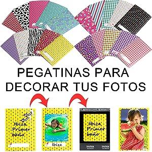 Sticker Instax Mini 11 Accessoires Instax Mini 11 Roze Wit Zwart Blauw Paars Hoes Instax Mini 11