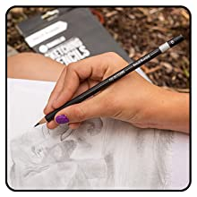 Triangle Pencils for 2-4 4-8 year olds for adults beginners shading and writing Best Grip Ergonomic