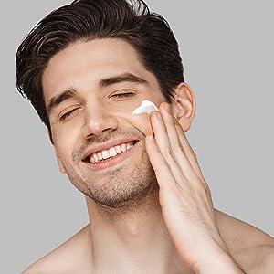HOMMEFACE skincare men grooming set kit sheet mask face toner facial wash moisturizer deodorant wipe