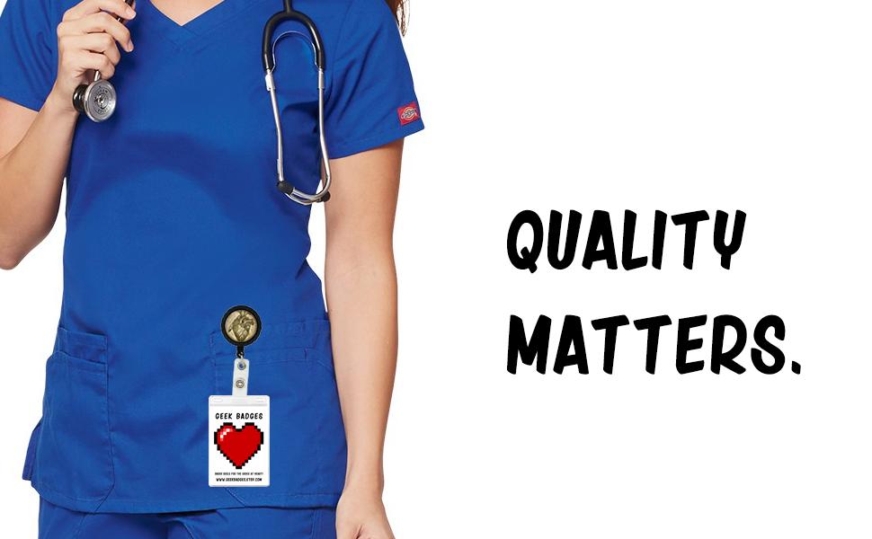 Quality Matters Geek Badge Reels