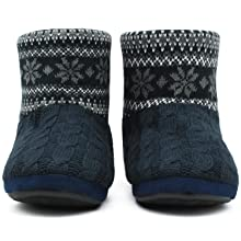 knit house shoes woolen ankle boots booties for men